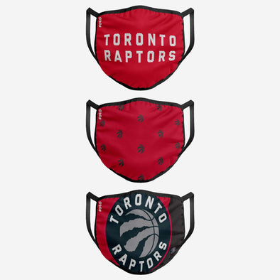 KIDS TORONTO RAPTORS 3 PACK FACE COVER