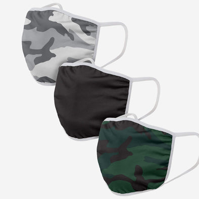 ADULT CAMO 3 PACK FACE COVER