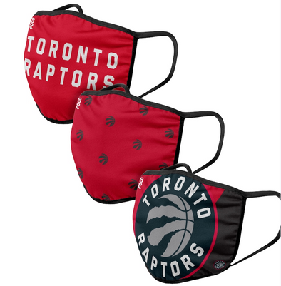 Adult Toronto Raptors - Cloth Face Covering 3-Pack