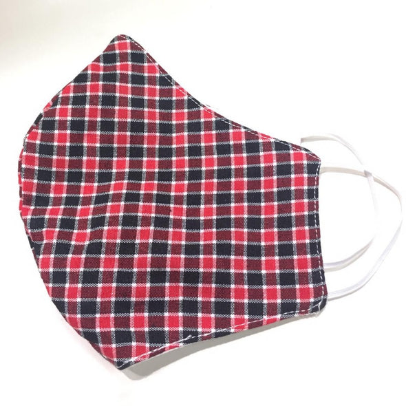 Men's face mask - Red Check Print