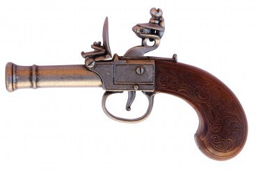 SOUVENIR FLINTLOCK PISTOL, ENGLAND 18TH. C.