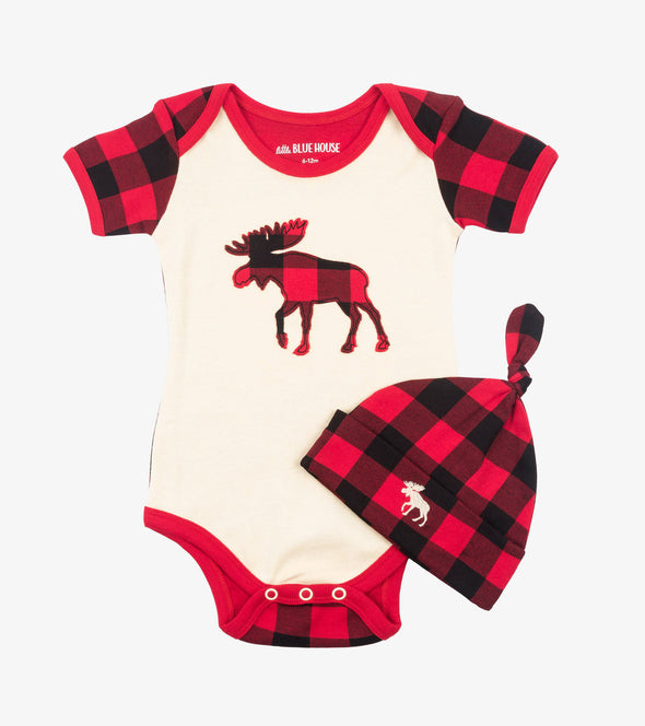 Infant Romper -Buffalo Plaid