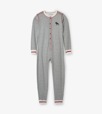 Kids Canadiana Moose Union Suit