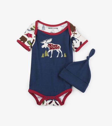Infant Romper with hat - Sketch Country
