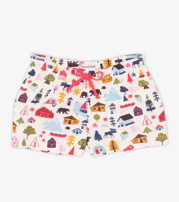 Women's Cute Cottage Sleep Shorts