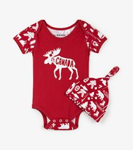 Infant Romper with Hat- Oh Canada