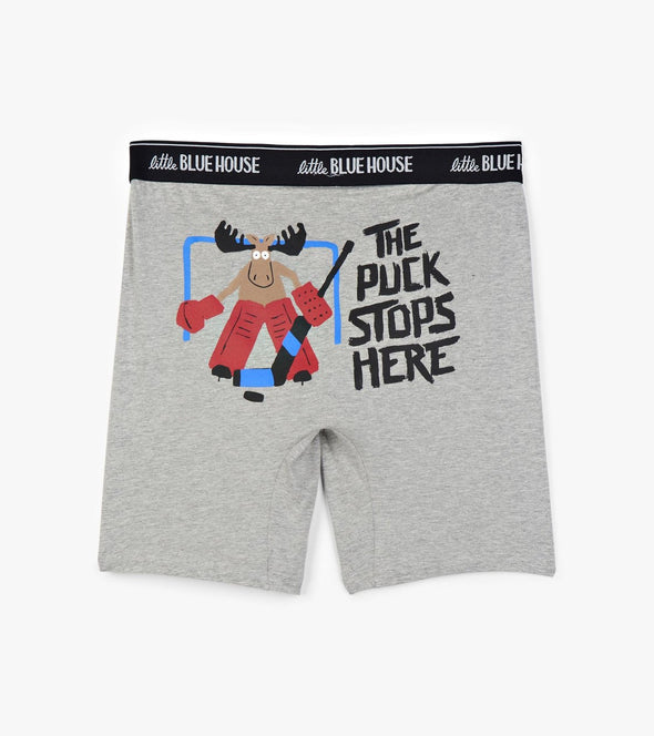 Men's Boxer Briefs-The Puck Stops Here