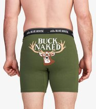 Men's Boxer Briefs-Buck Naked