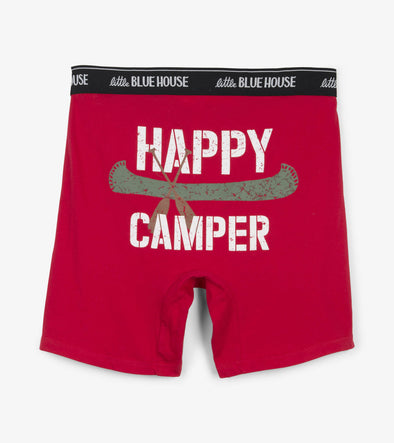 Men's Boxer Briefs-Happy Camper
