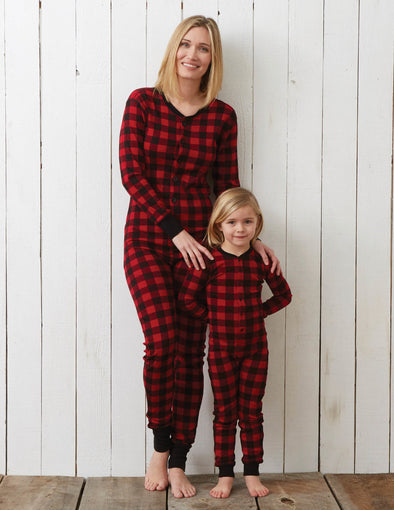 Adult Buffalo Plaid Union Suit