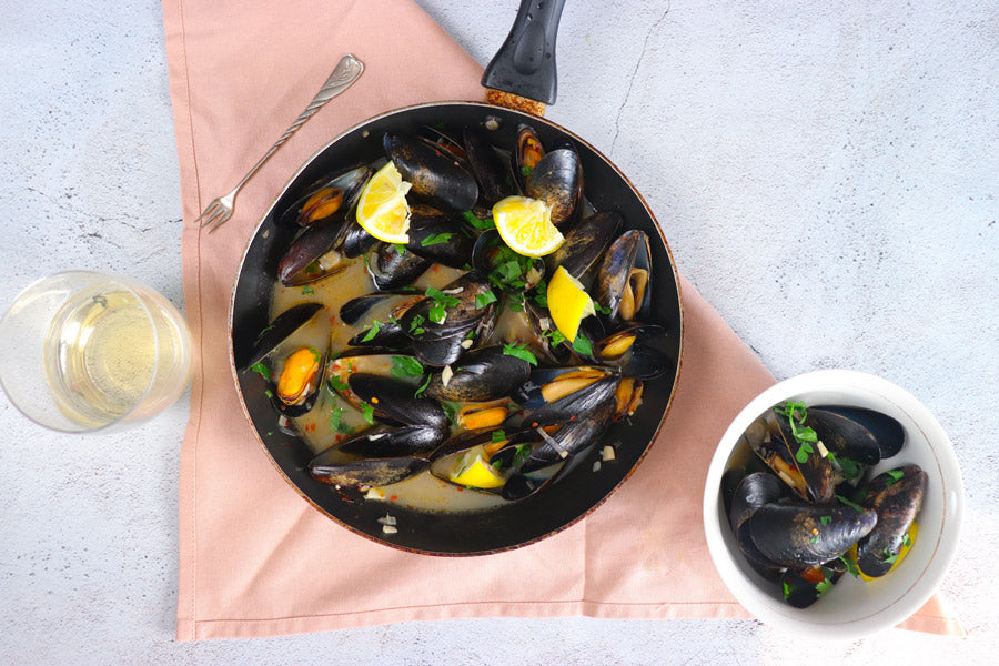 Maine Mussels with White Wine