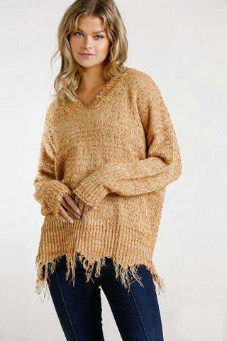 Umgee Frayed Sweater