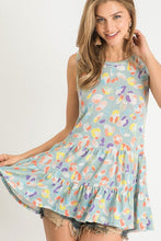 Load image into Gallery viewer, Colorful Printed Sleeveless Top in Pale Blue by First Love - June Adel