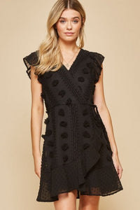 Black Embellished Dress - June Adel