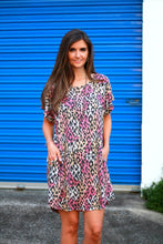 Load image into Gallery viewer, Umgee Multi-color Leopard Print Dress in Pink Mix - June Adel