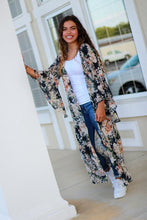 Load image into Gallery viewer, Umgee Navy Floral Long Sheer Kimono