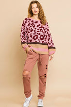 Load image into Gallery viewer, Umgee Rose Animal Print Sweater