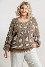 Load image into Gallery viewer, Umgee Cocoa Animal Print Sweater
