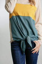 Load image into Gallery viewer, Umgee Stone Color Block Top with Front Knot