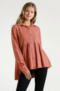 Umgee Babydoll Top in Sunset