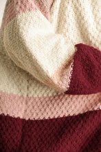 Load image into Gallery viewer, Umgee Tan and Raspberry Mix Cardigan