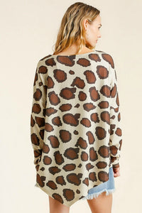 Umgee Latte Animal Print Tunic