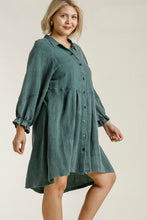Load image into Gallery viewer, Umgee Forest Green Long Sleeved Dress