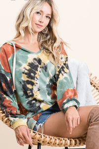 BiBi Top Tie Dye Mix with Rust and Olive