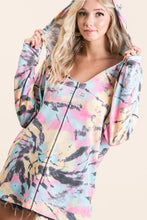 Load image into Gallery viewer, BiBi Blue, Pink, and Banana Tie Dye Hoodie