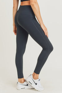 Mono B Solid High Waist Essential Leggings