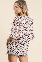 Load image into Gallery viewer, Blush Dalmatian Print Top by BiBi - June Adel