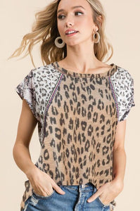 BiBi Tan Leopard Print Top - June Adel