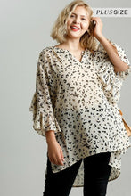 Load image into Gallery viewer, Umgee Latte Sheer Animal Print Tunic