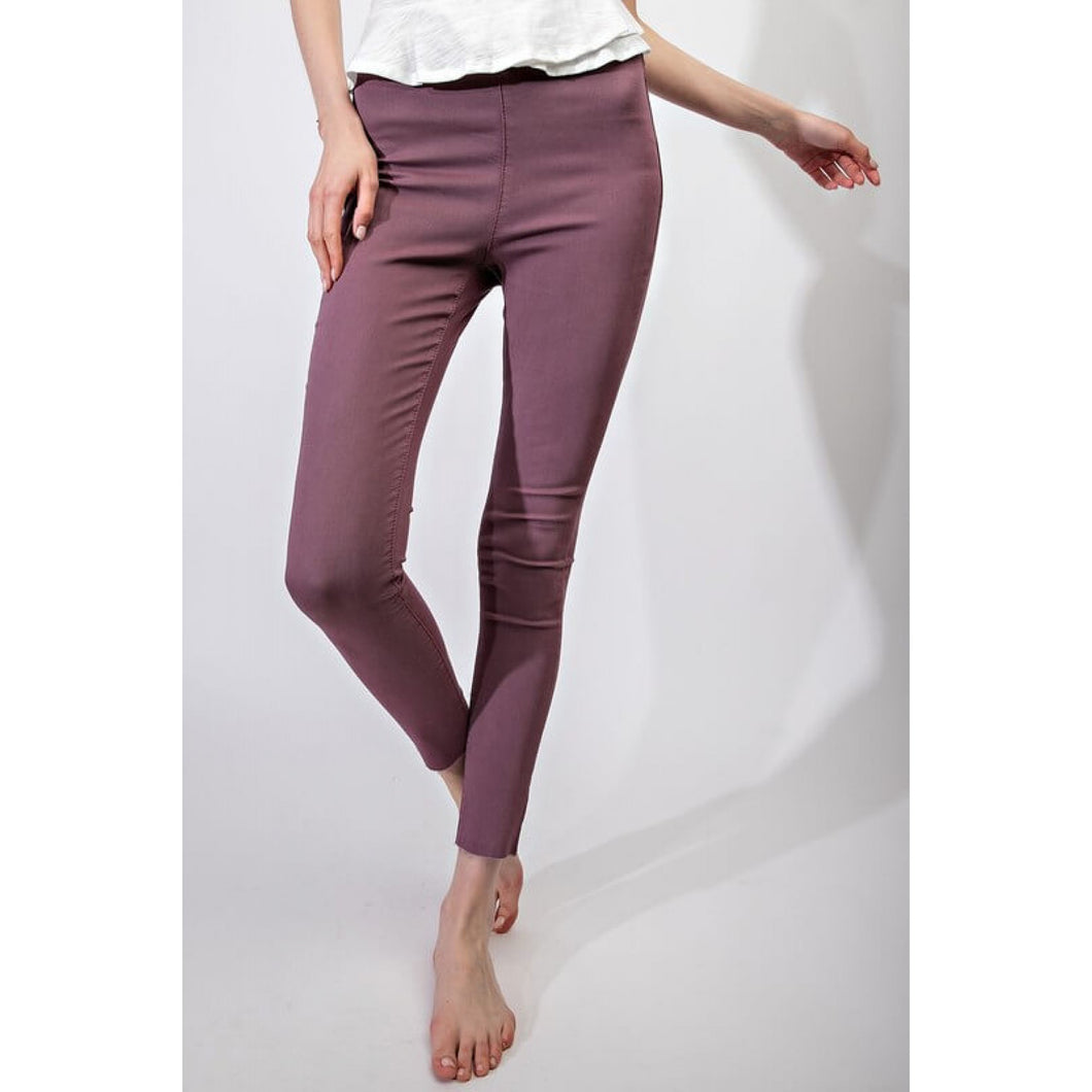 Washed Denim Jeggings in Faded Plum - June Adel