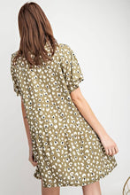 Load image into Gallery viewer, Easel Faded Olive Heart Print Dress - June Adel