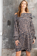 Load image into Gallery viewer, Easel Mushroom Animal Print Cowl Dress