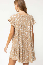 Load image into Gallery viewer, Latte Leopard Tiered Dress - June Adel