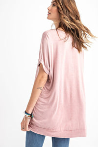 Rose Powder Mineral Wash Tunic - June Adel