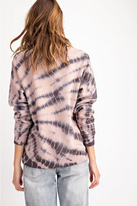 Ash Splatter Washed Terry Pullover Top - June Adel
