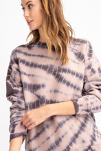 Load image into Gallery viewer, Ash Splatter Washed Terry Pullover Top - June Adel