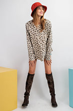 Load image into Gallery viewer, Easel Tan Leopard Print Top - June Adel