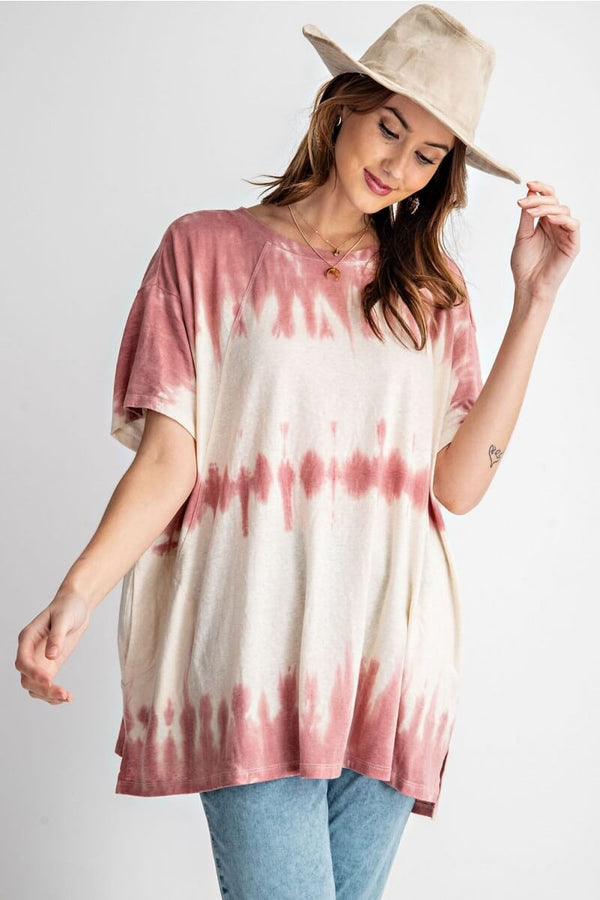 Wave Washed Top in Mauve - June Adel