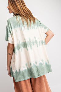 Wave Washed Top in Faded Sage - June Adel