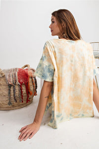 Easel Apricot Blue Special Dye Top - June Adel