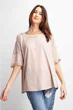 Load image into Gallery viewer, Light Mauve Top with Animal Print Accents by Easel - June Adel