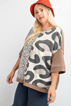 Load image into Gallery viewer, Easel Boxy Leopard Top in Khaki