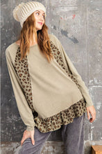 Load image into Gallery viewer, Easel Olive Animal Print Top