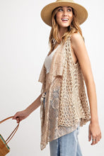 Load image into Gallery viewer, Unique Layering Boho Vest in Oatmeal - June Adel