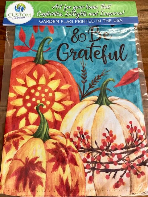 Gather & Be Grateful Fall Garden Flag