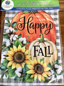 Pumpkins and Cotton Fall Garden Flag